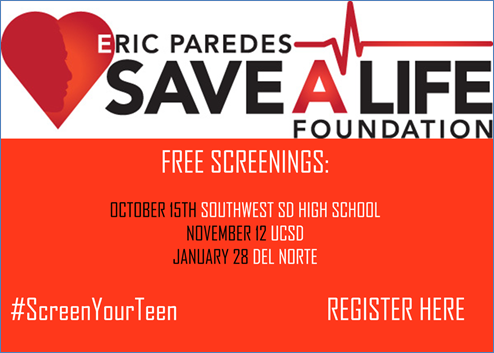 Free heart screening event this Sunday, October 15th at Southwest High School - Register Here.